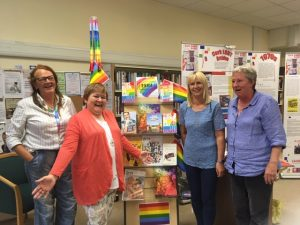 Library staff and staff of CnD at Youghal Pride event 2019